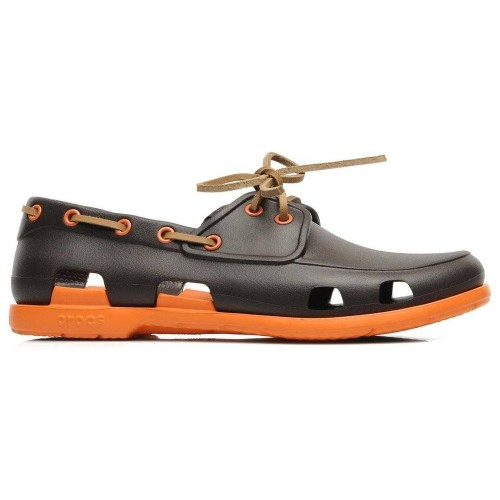 Crocs Beach Line Boat Shoe Brown Orange