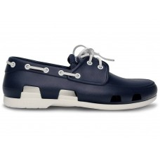 Crocs Beach Line Boat Shoe Dark Blue White