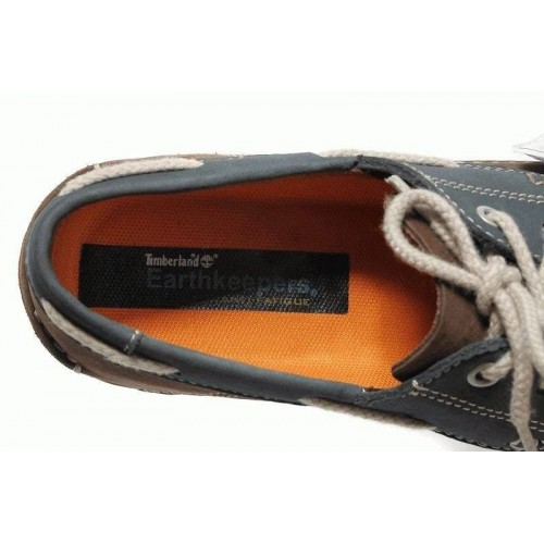 Туфли Timberland Mens Earthkeepers 2-Eye Boat Shoes Brown Dark Blue
