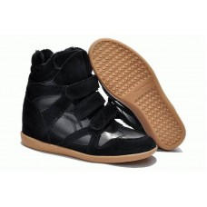 Зимние кроссовки Isabel Marant Sneakers Black Winter (С МЕХОМ)