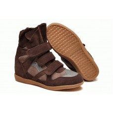 Зимние кроссовки Isabel Marant Sneakers Brown Winter (С МЕХОМ)
