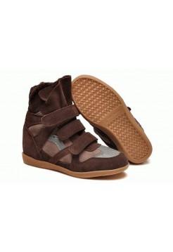 Зимние кроссовки Isabel Marant Sneakers Brown Winter (С МЕХОМ)
