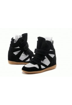 Зимние кроссовки Isabel Marant Sneakers White Black Winter (С МЕХОМ)
