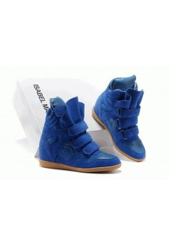 Женские кроссовки Isabel Marant Copy Blue (ОРА217)