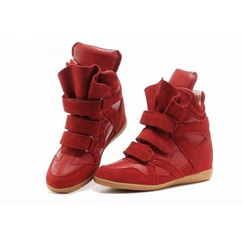 Женские кроссовки Isabel Marant Copy Red (ОРА671)