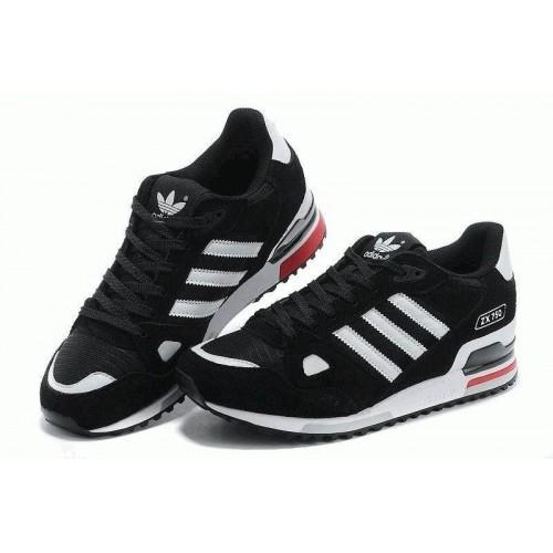 Кроссовки Adidas ZX 750 Черные с белым