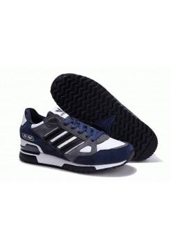 Кроссовки Adidas ZX 750 Сине-белые (О-327)