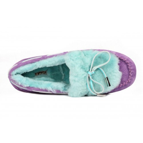 Мокасины UGG Dakota Fur Purple Blue (О-521)