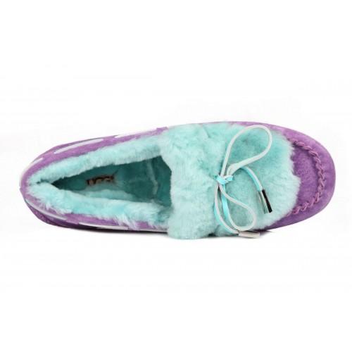 Мокасины UGG Dakota Fur Purple Blue (О-521)