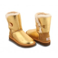 UGG Bailey Button Metallic Gold