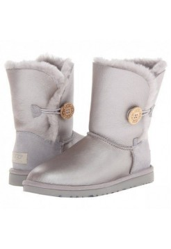 UGG Bailey Button Bling Metallic Milk Grey (О-364)
