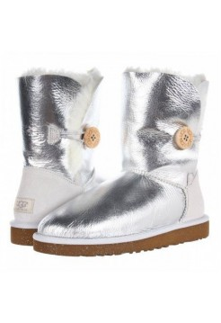 UGG Bailey Button Metallic Silver (EO637)