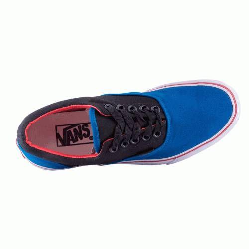 Кеды Vans черно-синий с красным