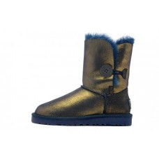 UGG Bailey Button Metallic Blue/Gold