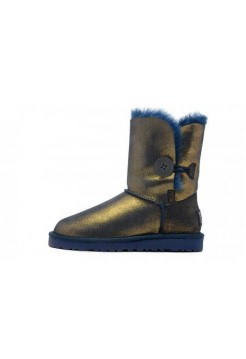 UGG Bailey Button Metallic Blue/Gold (E611)