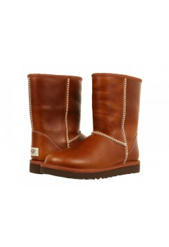 UGG Classic Short Leather Chestnut (О-388)