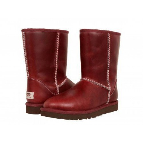 UGG Classic Short Leather Red (О-214)