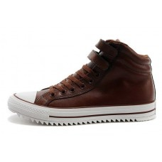Кеды Converse Chuck Taylor All Stars High Leather Brown (О-448)
