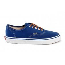 Кеды Vans Authentic синие/цветные шнурки (Р621)