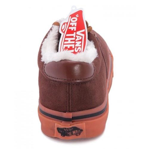 Кеды Vans низкие Winter С мехом brown (А112)