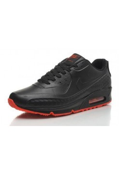 Кроссовки Nike Air Max 90 First Leather Black Red