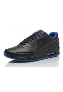 Кроссовки Nike Air Max 90 First Leather Black Blue (М431)