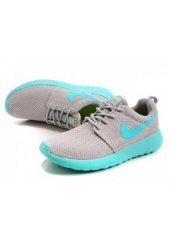 Кроссовки Nike Roshe Run II Lite Grey Lite Blue (О866)