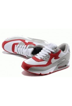 Кроссовки Nike Air Max 90' Бело/красные (О-321)