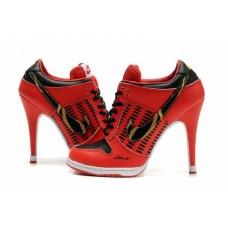 Ботиночки Nike Dunk Low Heels Красные