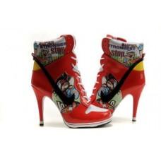 Ботиночки Nike Air Jordan High Heels 02 Красные
