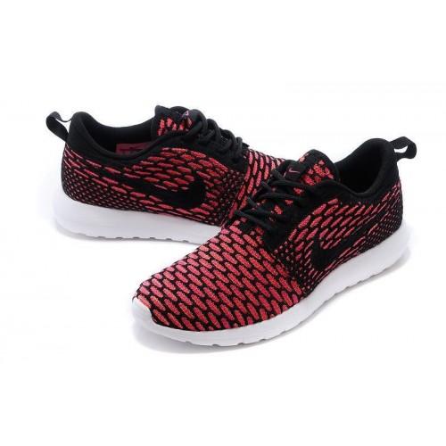 Кроссовки Nike Roshe Run Flyknit Красные (РА524)