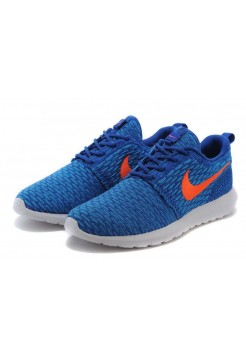 Кроссовки Nike Roshe Run Flyknit Game Royal (Р524)