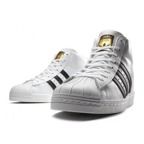 Кроссовки Adidas Superstar Supercolor White Высокие (М421)