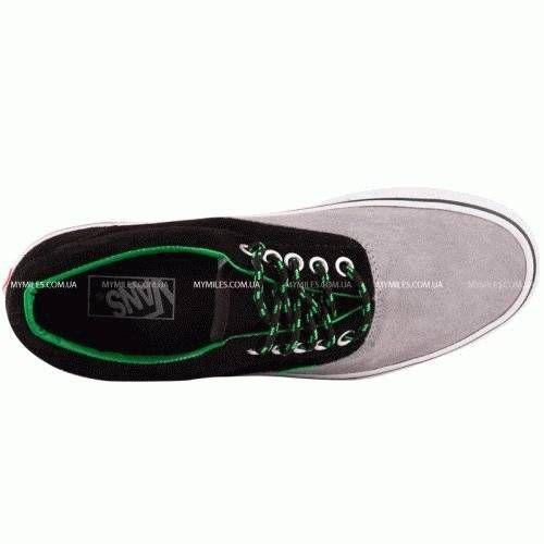 Кеды VANS серо/черный с зеленым