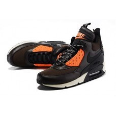 Кроссовки Nike Air Max Sneakerboot 90 Brown/Crimson (V611)