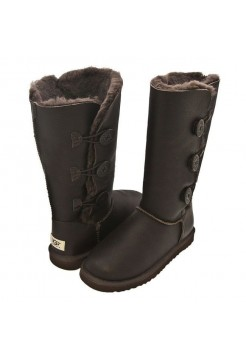 UGG BAILEY BUTTON TRIPLET Шоколад Кожа (S441)