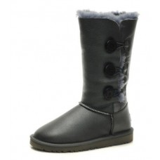 UGG BAILEY BUTTON TRIPLET Серый Кожа