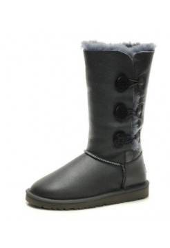 UGG BAILEY BUTTON TRIPLET Серый Кожа (S442)