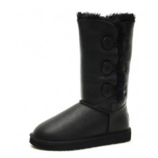 UGG BAILEY BUTTON TRIPLET Черный Кожа