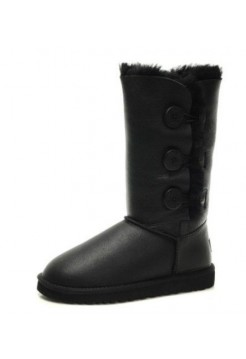 UGG BAILEY BUTTON TRIPLET Черный Кожа (НSO443)