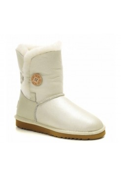 UGG Bailey Button Metallic Silver (OS163)