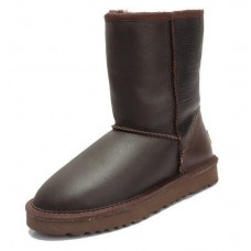 UGG Classic Short Leather Шоколад