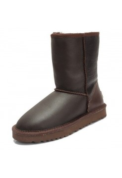 UGG Classic Short Leather Шоколад (SМ612)