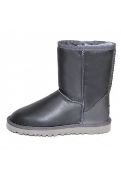 UGG Classic Short Leather Серые (SМ613)