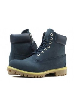 Ботинки Timberland 6 inch Blue Made in China (О493)