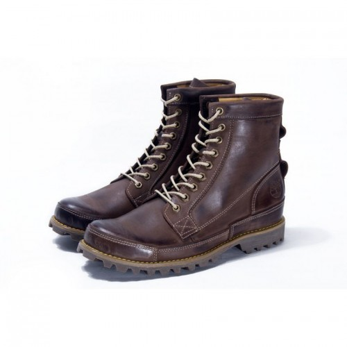 Ботинки Timberland Rugged High Brown (С МЕХОМ)