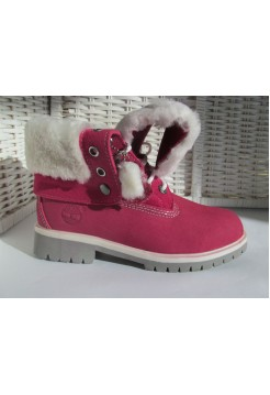 Ботинки Timberland Rose Red С МЕХОМ (К-234)