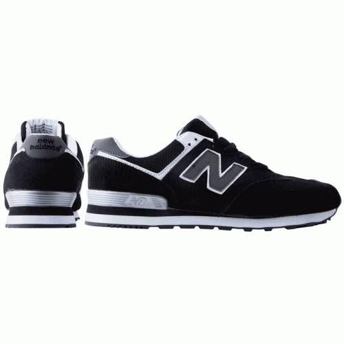 Кроссовки New Balance 574 Черно-белые (М-167)