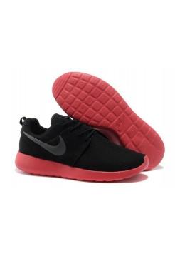 Кроссовки Nike Roshe Run Черный/роз (V-336)