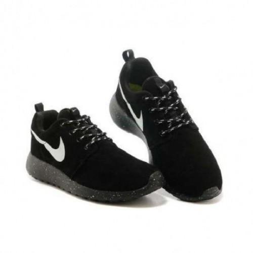Кроссовки Nike Roshe Run Suede II Черные (М321)